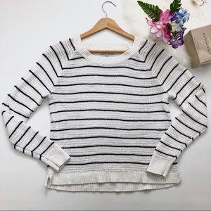 Madewell dockline pullover sweater marine stripe S